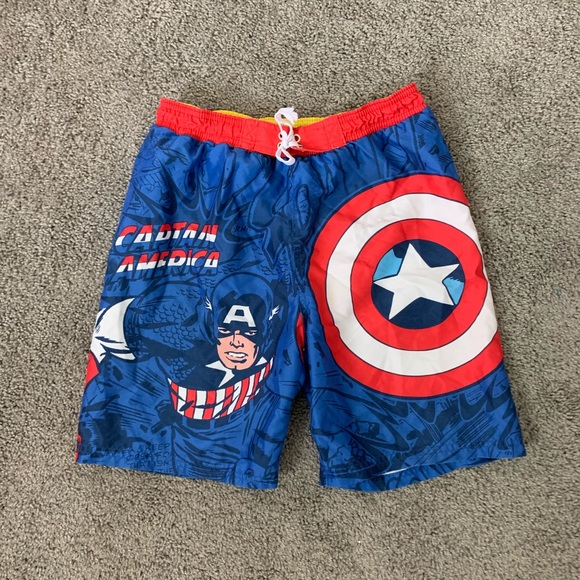 Spiderman Swimwear  Trunks Shorts Beach Boys  10//12 Nwt